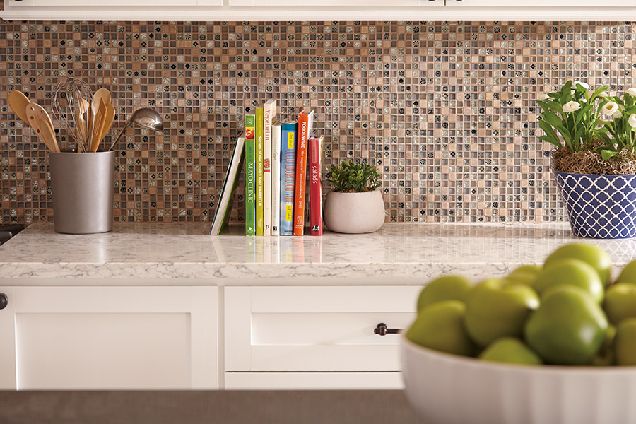 Custom tile backsplash in Wayne, MI from Esquire Interiors