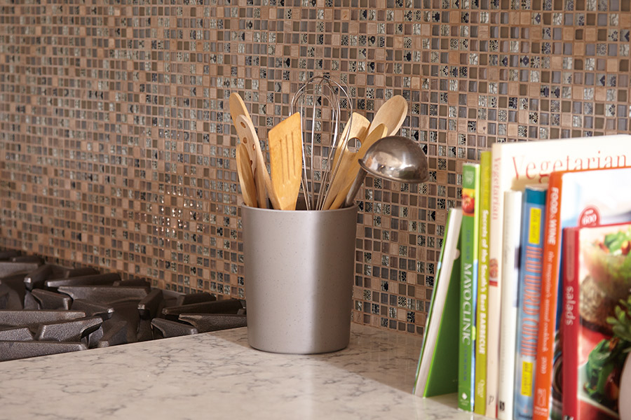 Custom tile backsplash in Berks, PA by Wall to Wall Floor Covering