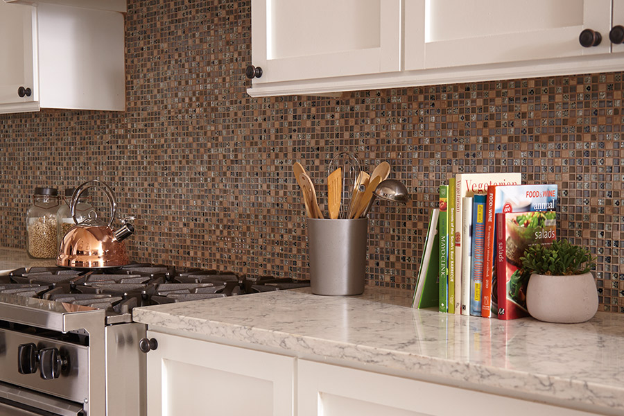 Custom tile backsplash in Byron, GA from H&H Carpets
