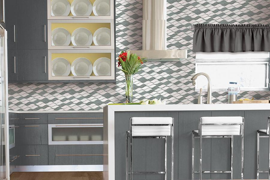Custom tile backsplash in Homer Glen IL from New Look Floor Coverings Inc.