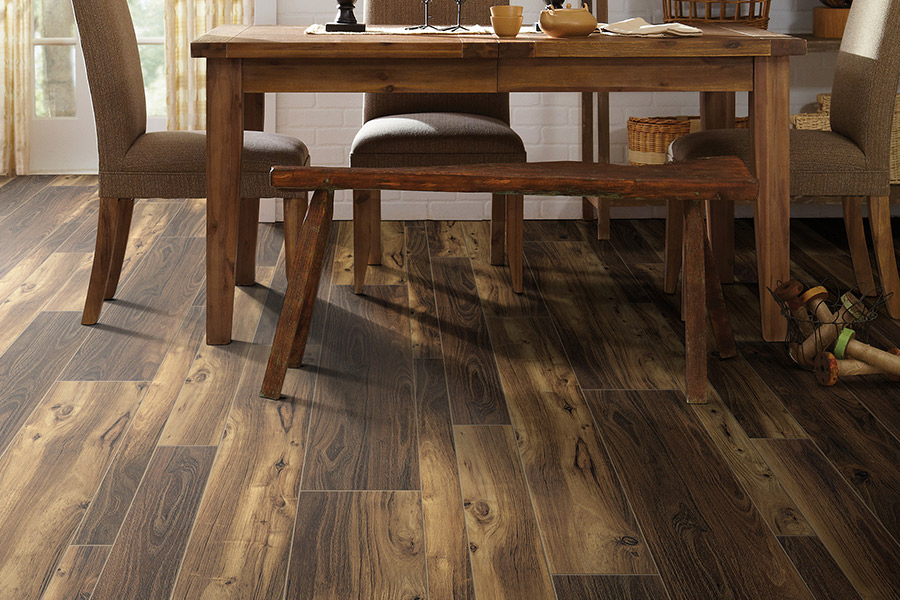 Wood look luxury vinyl plank flooring in El Dorado Hills, CA from Central Valley Floor Design