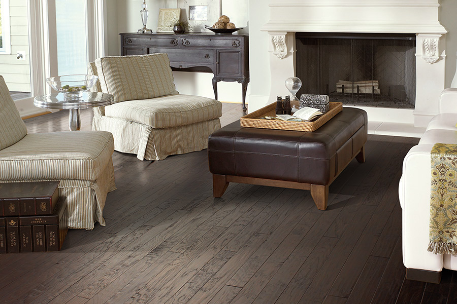 Dark walnut wood flooring in Chesterfield MO from Beseda Flooring & More