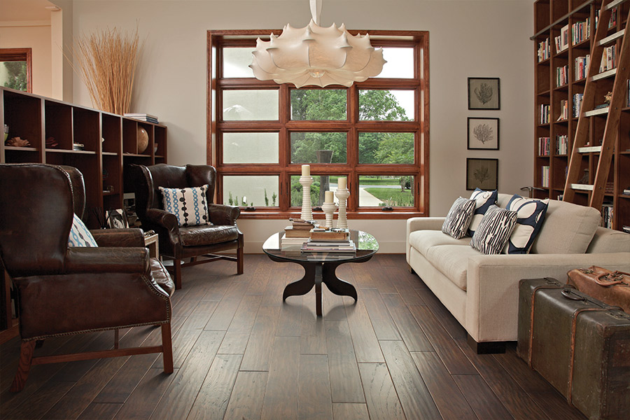 Wood floor installation in Anaheim, CA from Anaheim Carpet and Flooring