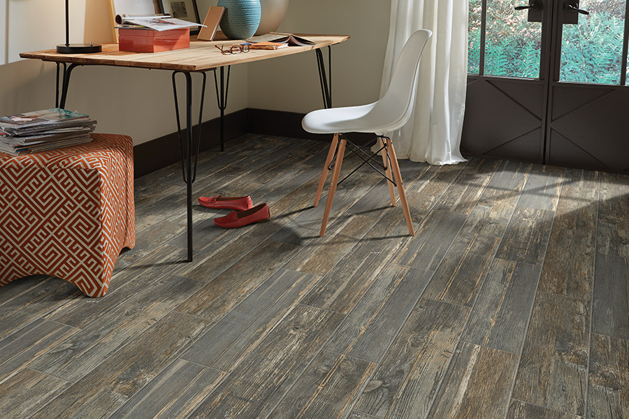 Wood look tile flooring in San Mateo, CA from Conklin Bros. Floor Coverings