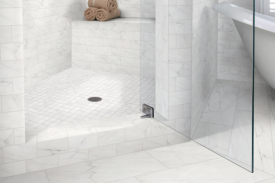 Custom tile bathrooms in Lutz, FL from E&W Carpets