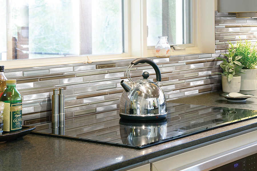 Custom tile backsplash in Los Gatos, CA from Lambert & Sons Floor Covering