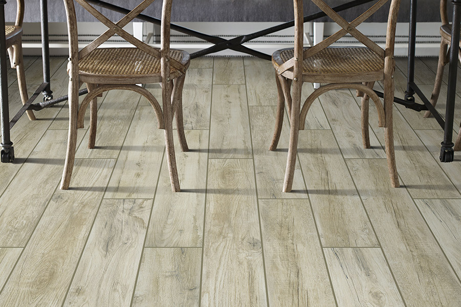 Wood look tile flooring in Monument, CO from Hardwood Flooring Specialist