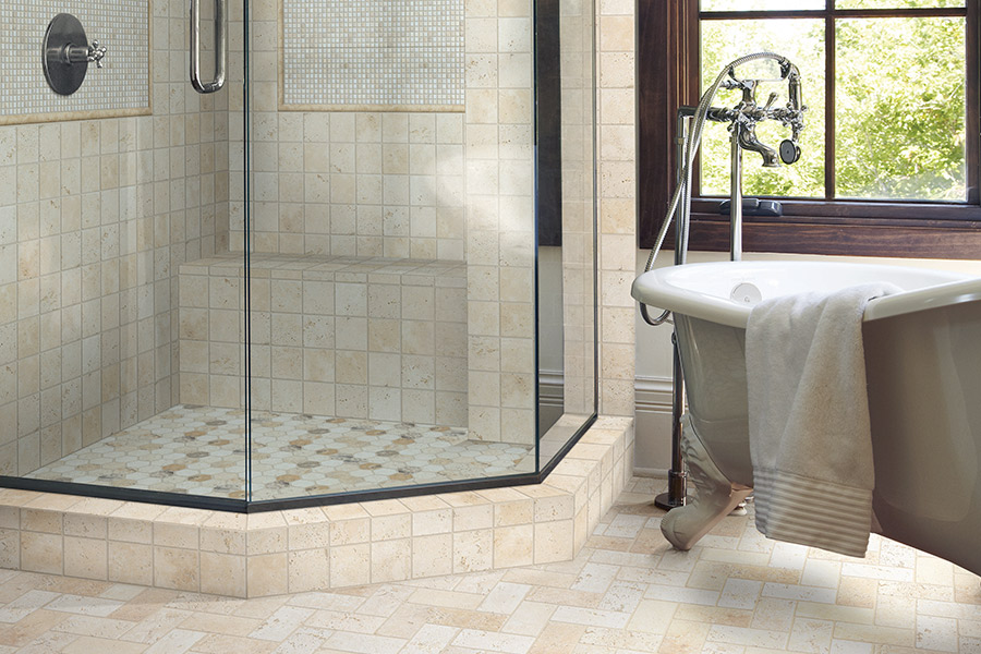 Custom tile bathrooms in Waltham, MA from Watertown Floor Covering, LLC