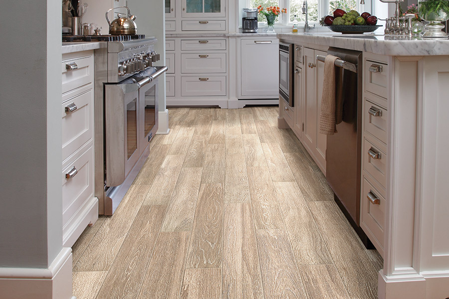 Wood look tile flooring in Hillsborough County, FL from E&W Carpets