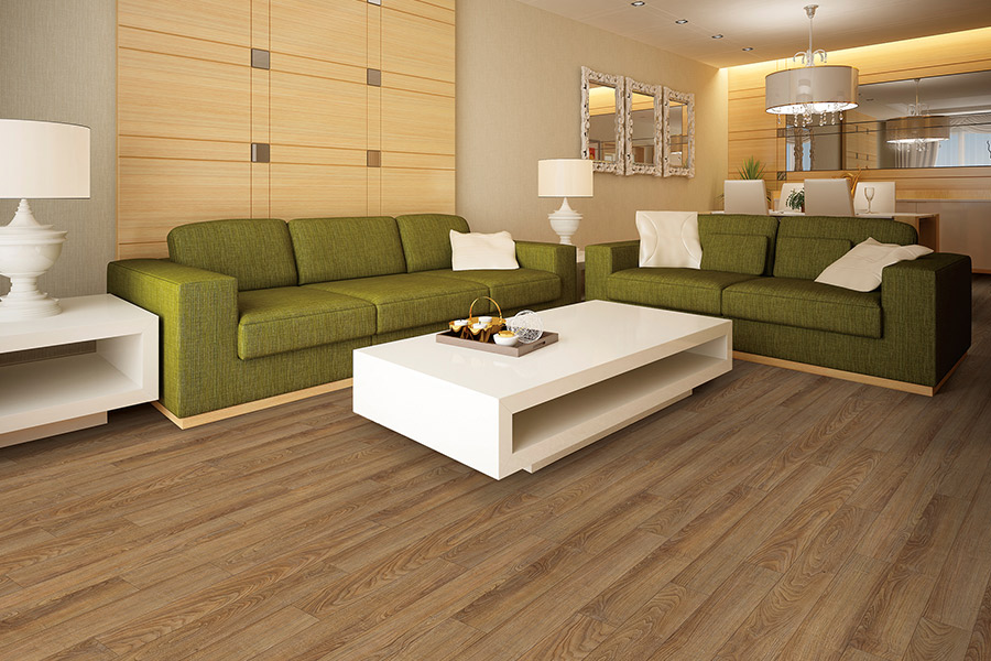 Wood look vinyl sheet flooring in Sultan, WA from Completely Floored