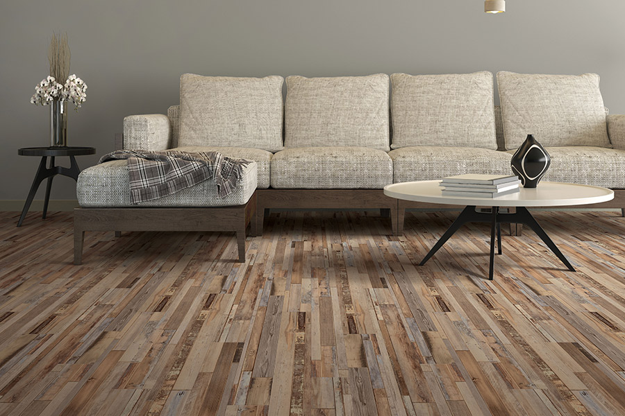 Wood look waterproof flooring in Lakeview CA from White's Discount Carpets