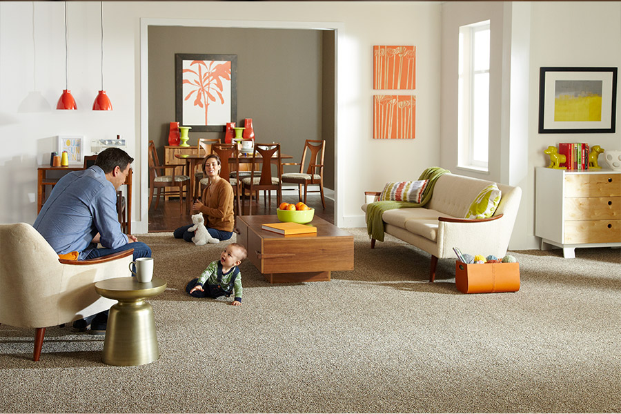 Beautiful textured carpet in Strongsville, OH from Floorz