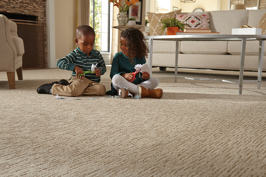 Beautiful textured carpet in Granger, IN from Comfort Flooring