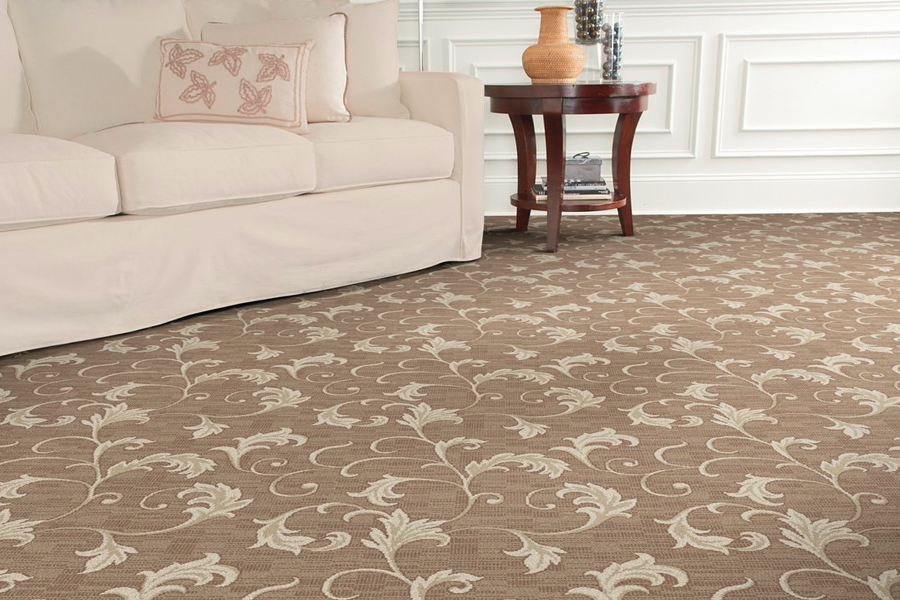 Beautiful textured carpet in