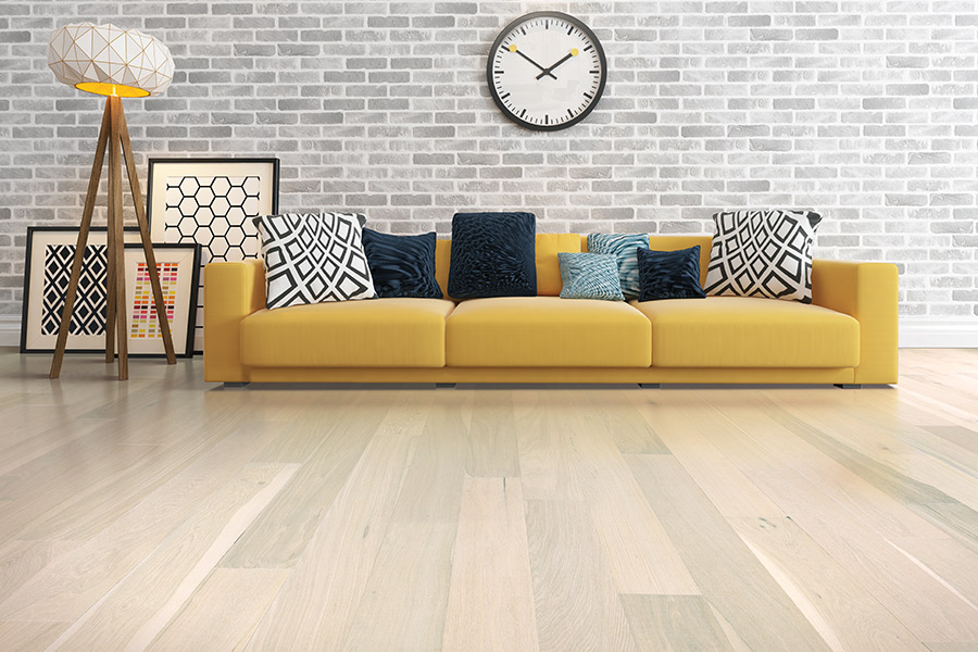 Light wood mid century modern floors in Santa Clara CA from Total Hardwood Flooring Services