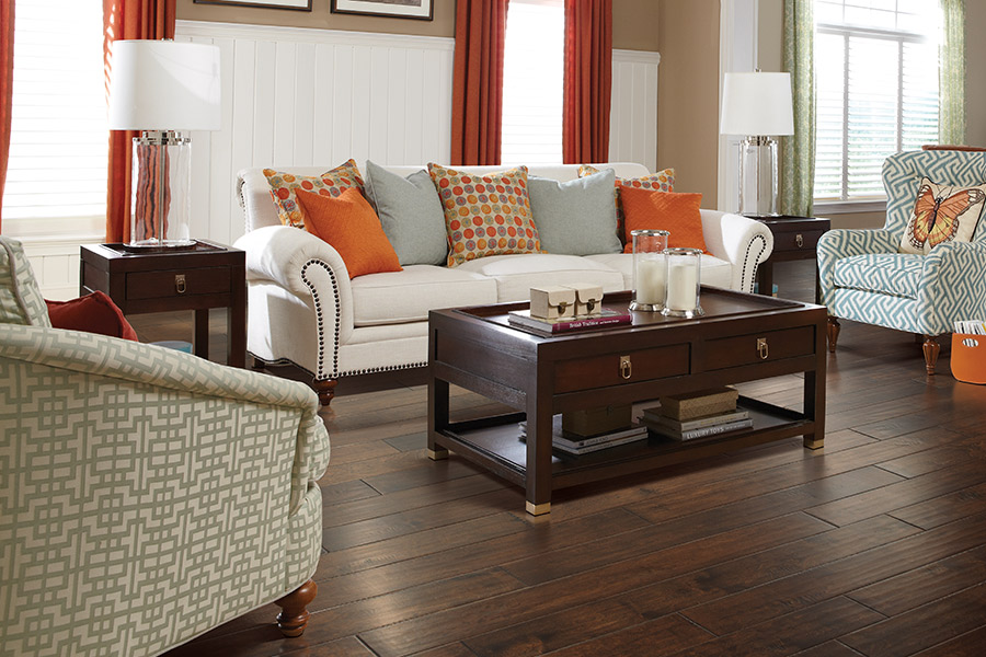 Dramatic living rooms in hardwood floors in Atlanta area by Select Floors