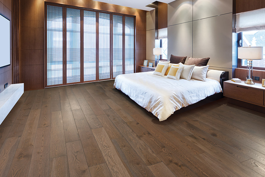 Wood floor installation in Orange, CA from Incredible Carpets & Flooring