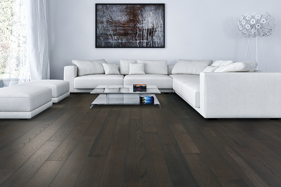 Dark espresso finish wood floors in Port Orange FL from Discount Quality Flooring