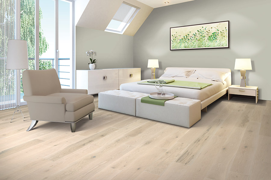 Light wood plank floor installation in Mountain View CA from Total Hardwood Flooring Services