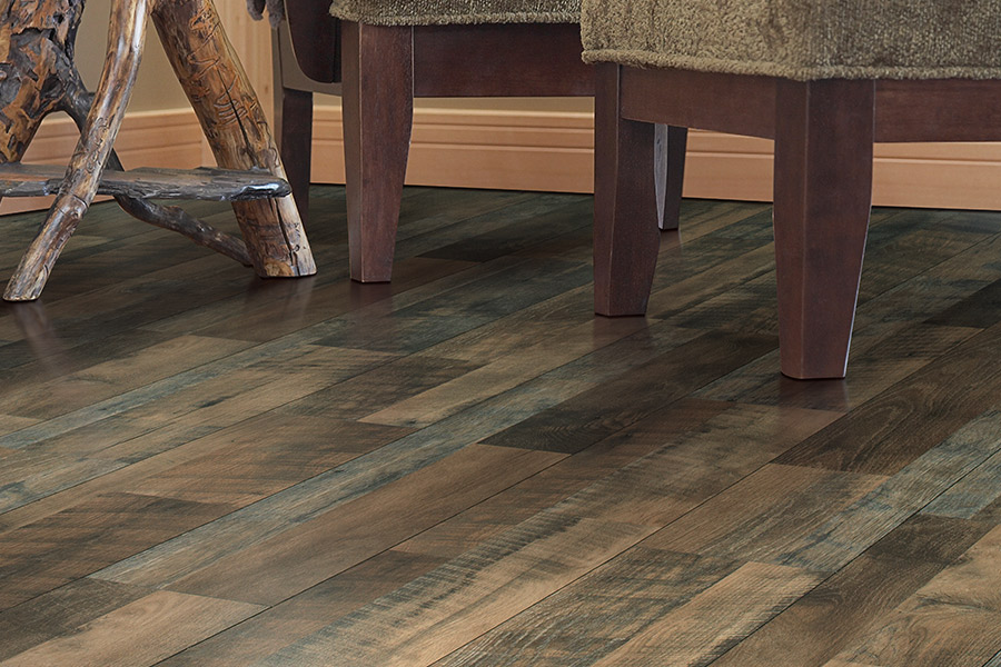Reclaimed wood laminate floor planks in San Mateo CA from Total Hardwood Flooring Services