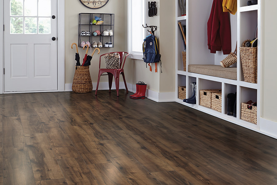 Laminate floor installation in Ellsworth, WI from Malmquist Home Furnishings