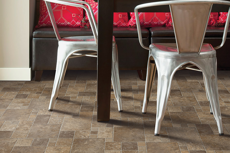 Luxury vinyl tile (LVT) flooring in Woodstock VT from Carpet Mill Flooring USA