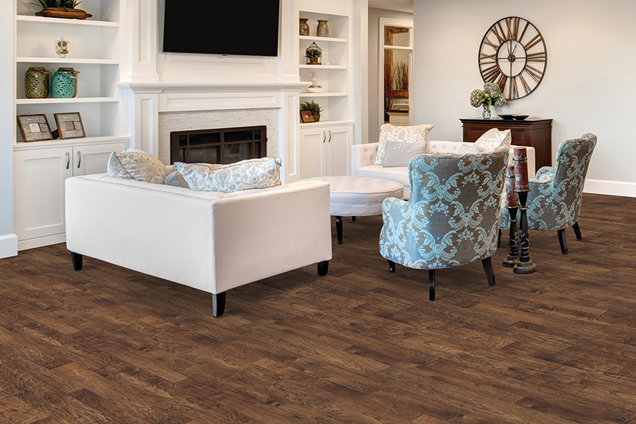 Wood look luxury vinyl plank flooring in Calgary AB from After Eight Interiors