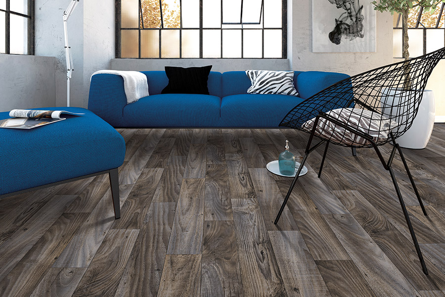 Wood look luxury vinyl plank flooring in Bay Port MI from Worden Interiors