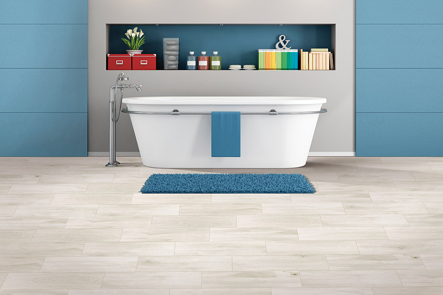 Tile flooring in