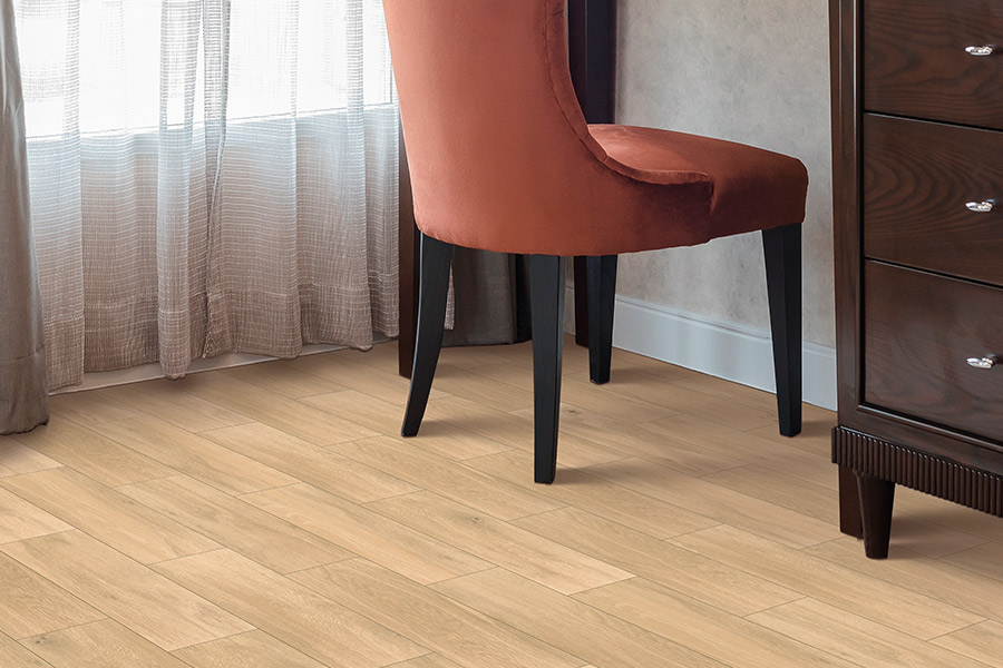Wood look tile flooring in Clio MI from Worden Interiors