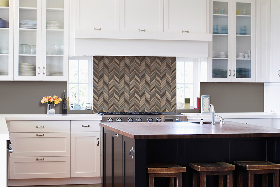 Custom tile backsplash in Bothell, WA from Haight Carpet & Interiors