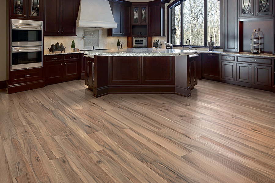 Wood look tile flooring in
