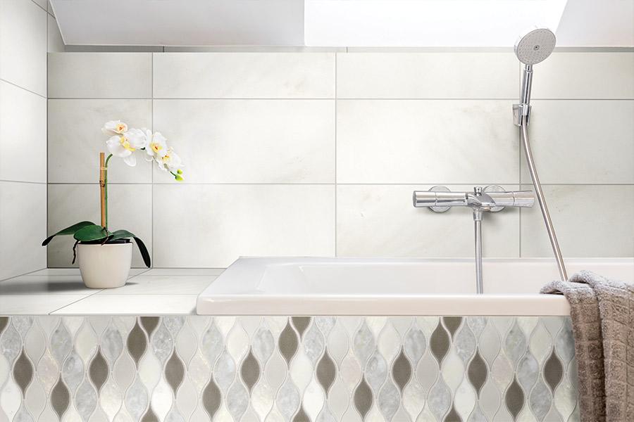 Beautiful stone bathroom in Orange County CA from Compare Carpets & Hardfloors