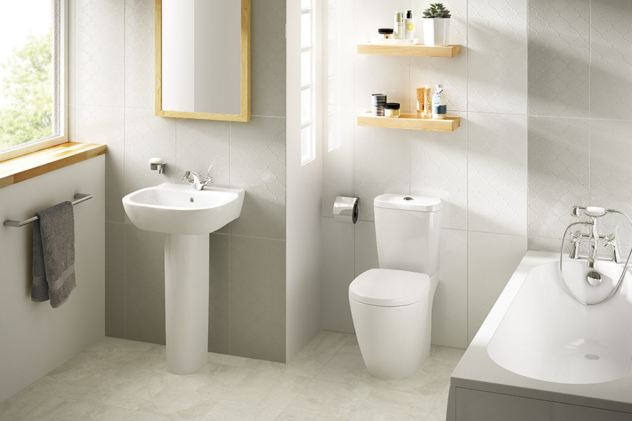 Custom stone bathroom in Las Vegas, NV from GoPro Interiors