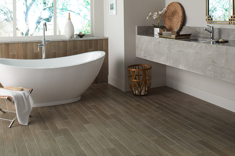 Wood look tile flooring in Groveland, FL from Floors of Distinction
