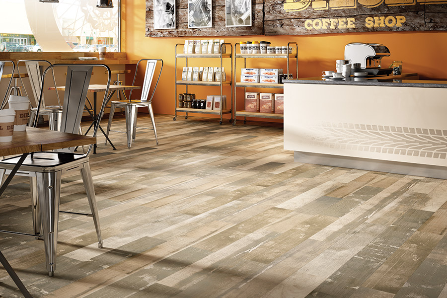 Luxury vinyl flooring in Iowa from Hiller Stores
