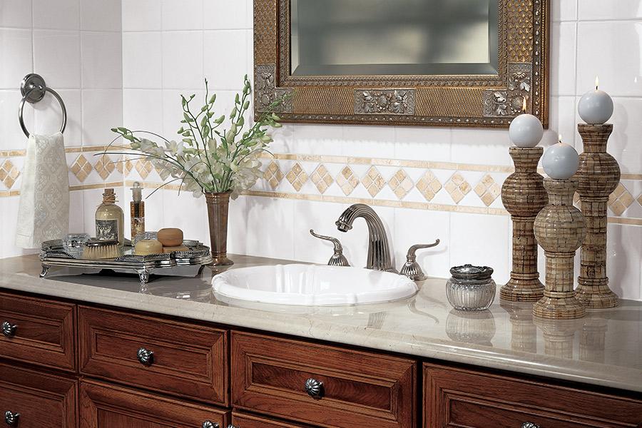 Custom ceramic tile backsplash in Clinton, MS from Mississippi Pro Design Center