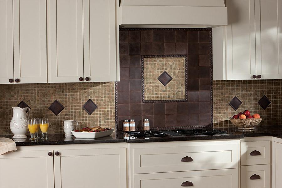 Custom tile backsplash in Emigsville, PA from Chuck Kraft Carpets