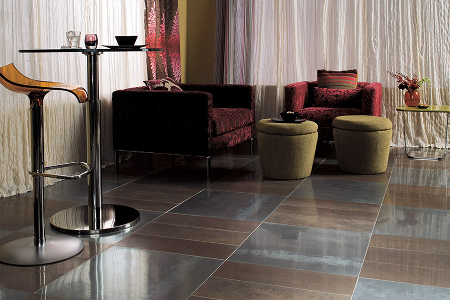 Seamless tile floors in Atlanta area by Select Floors
