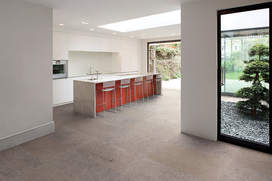 Tile floor installation in Poinciana FL from Burns Flooring & Kitchen Design