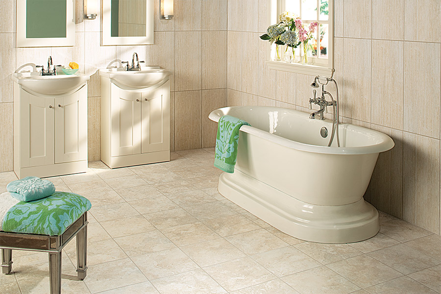Bathroom tile installation from Floor Inspirations