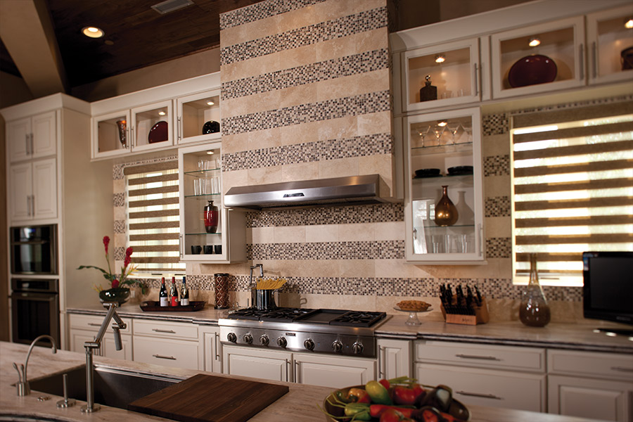 Custom tile backsplash in Boulder, CO from Schmidt Custom Floors
