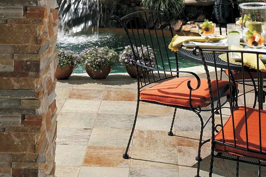 Rich natural stone flooring in Staten Island, NY from Italian Tile Imports