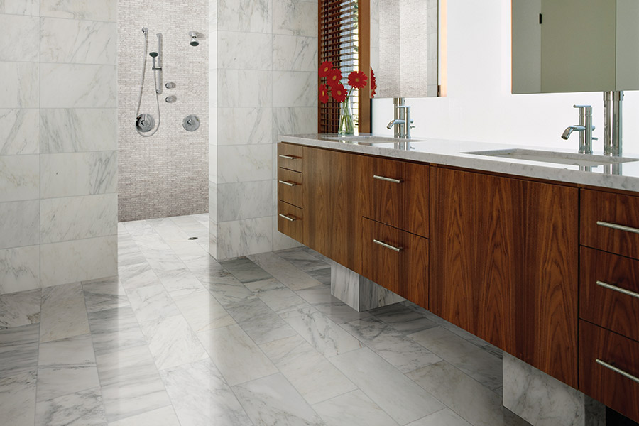 Elegant tile bathrooms in Atlanta area by Select Floors