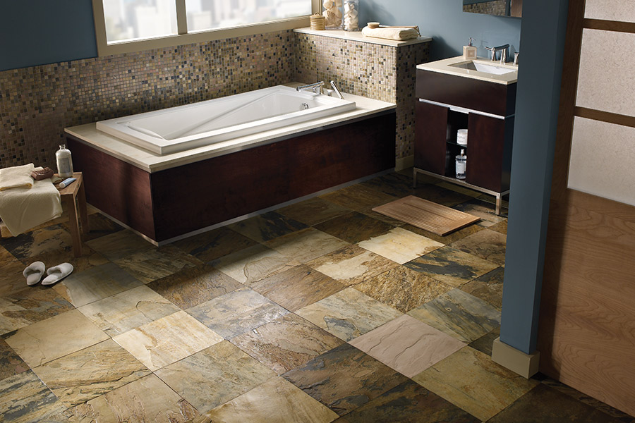 Modern natural stone flooring in Lakeville, MN from zFloors by Zerorez