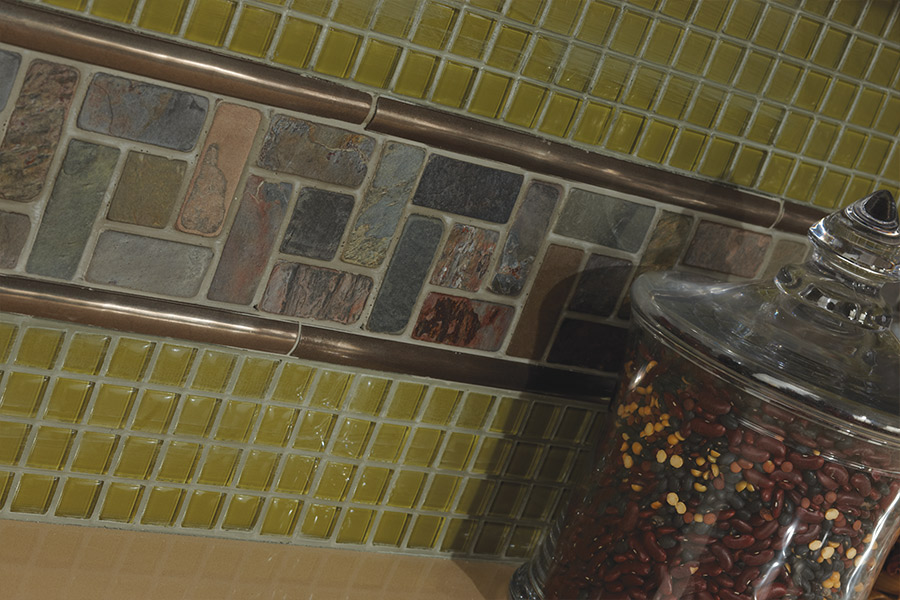 Custom glass tile mosaic backsplash in Middleburg, PA from Modern Heritage