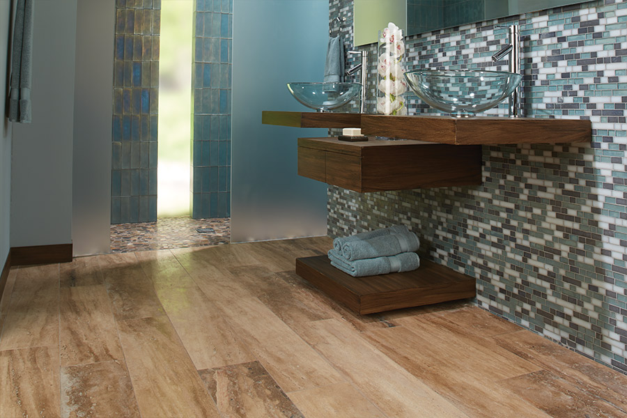 Wood look tile flooring in Glen Arbor, MI from Carpet Galleria