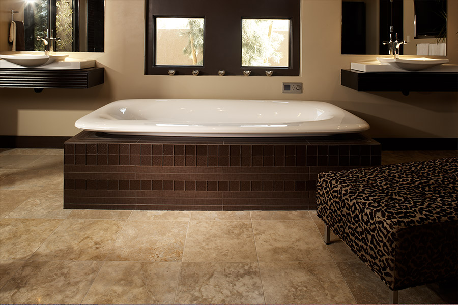 Custom stone bathroom in Boca Raton, FL from Floor Specialists