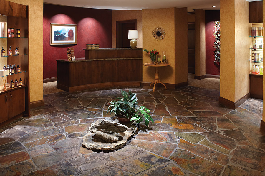 Natural stone floors in Bethlehem, NH from The FloorWorks