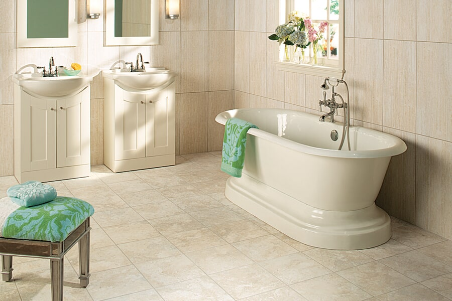 Bathroom tile floors in Madisonville KY from Coal Field Flooring